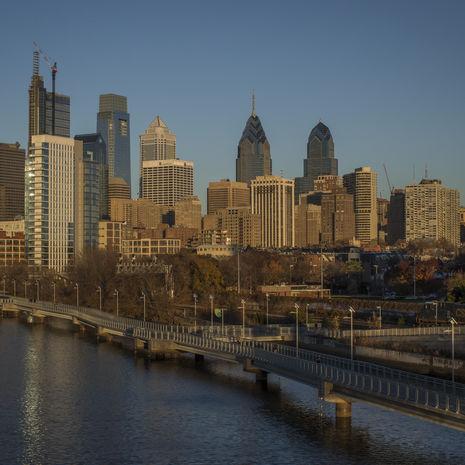 Background for the 'Living in Philadelphia' link block