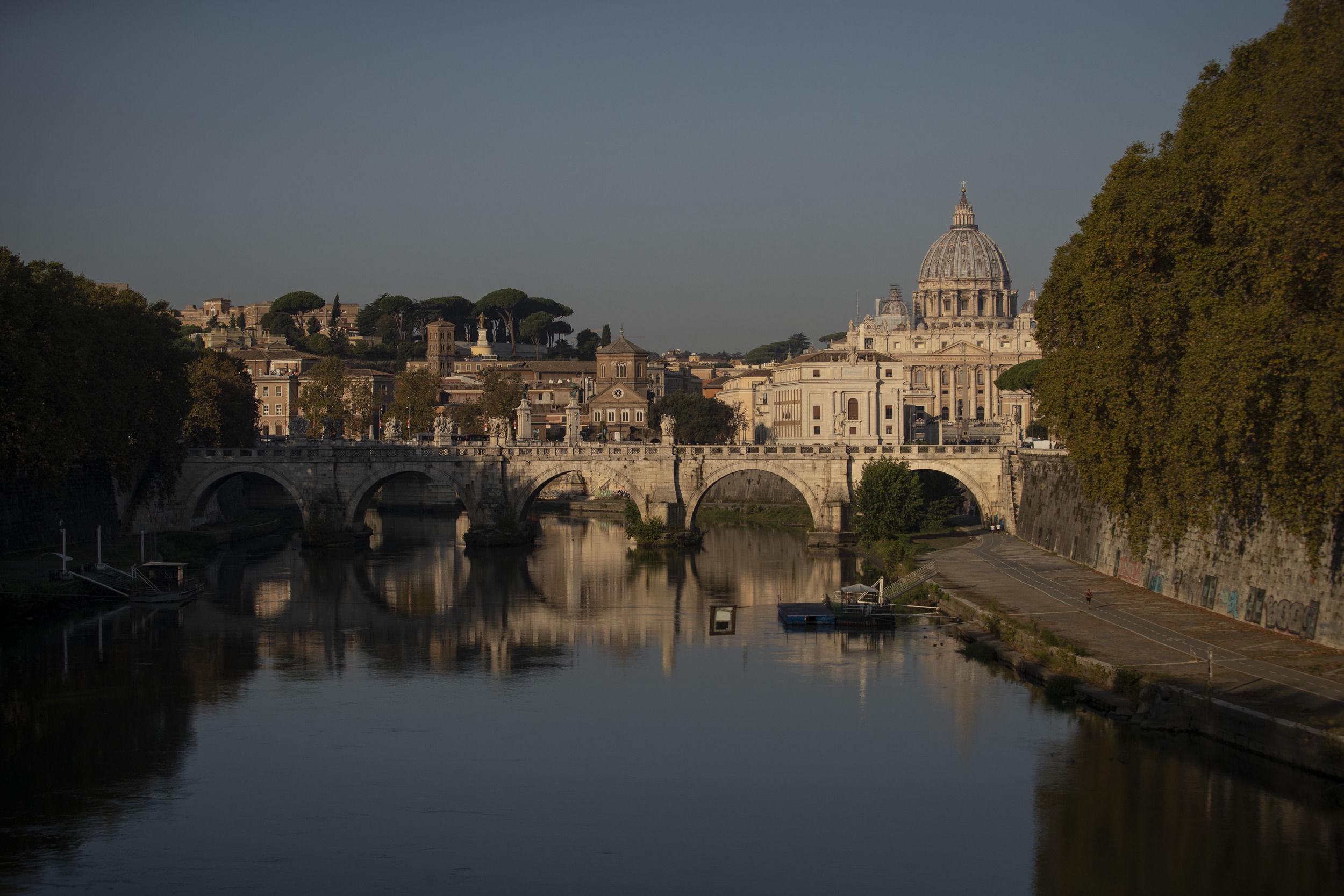 A shot of the Vatican.