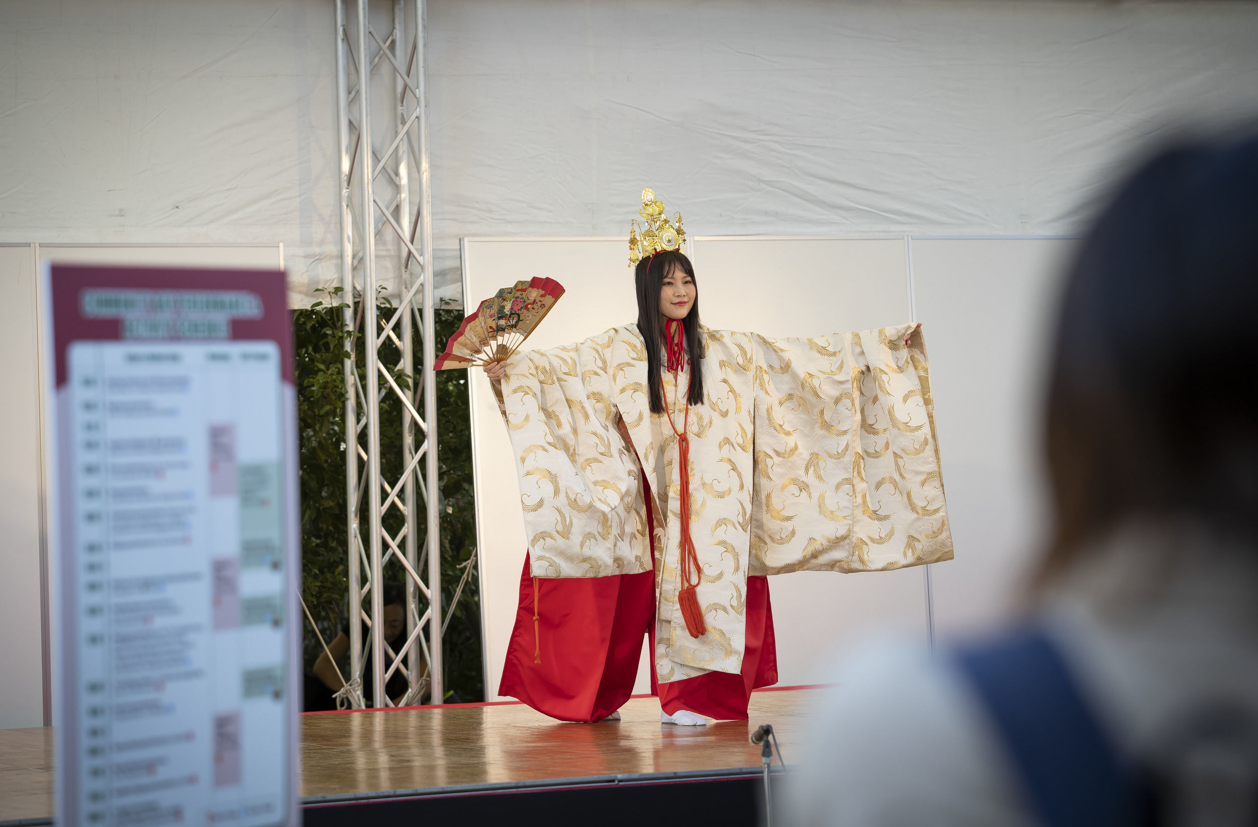 Performing arts during Temple Japan's Community Day.