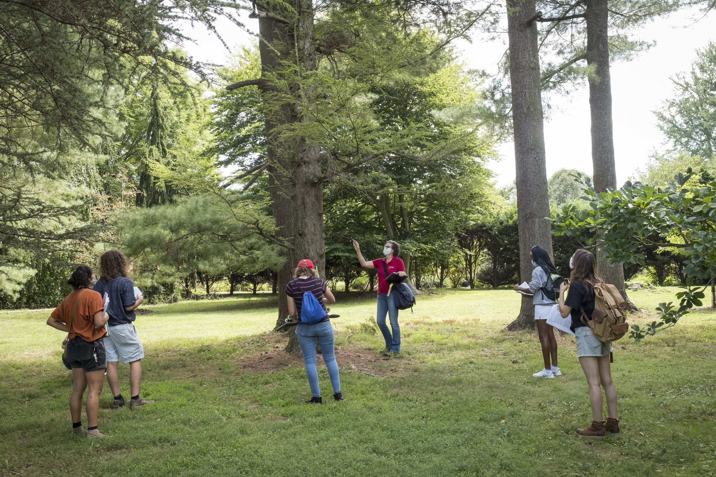 Students participating in outdoor learning.