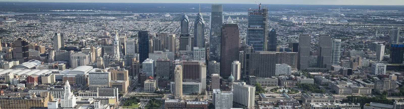 City of Philadelphia from aerial view