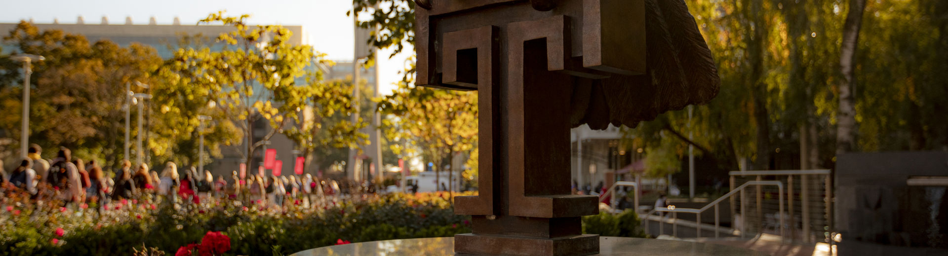 a shot of the Owl statue on O'Connor Plaza.