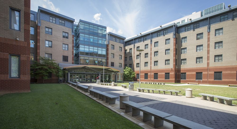Exterior of 1300 Residence Hall.