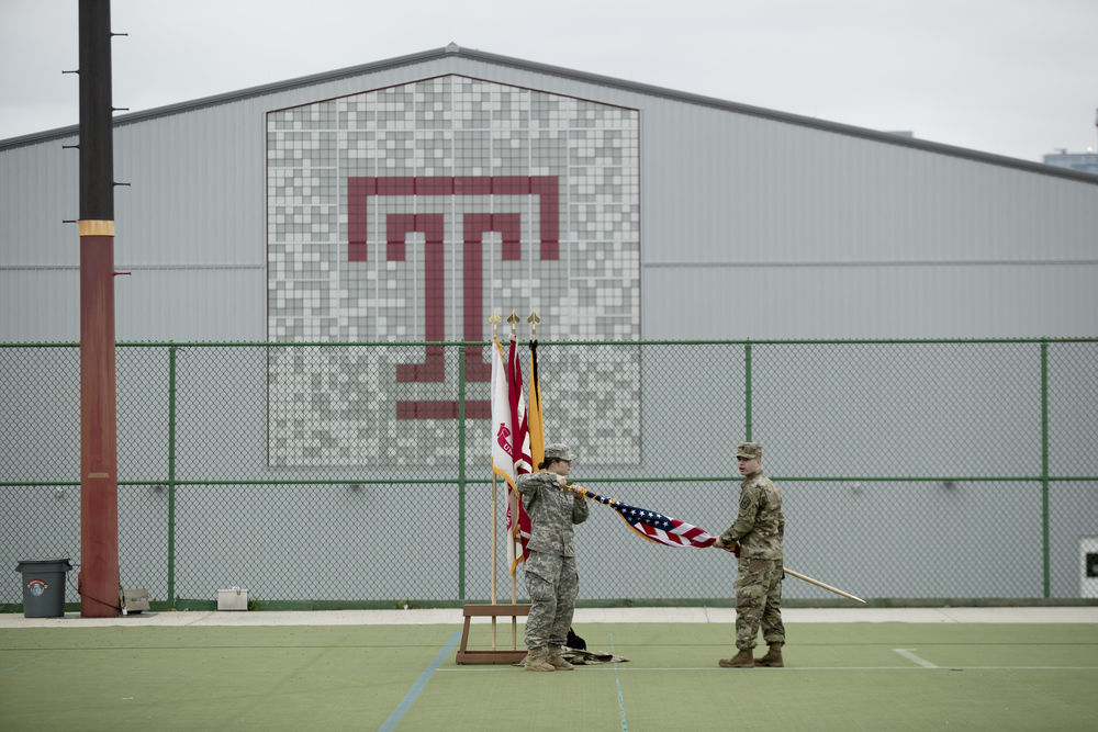 ROTC activity at the Geasey Outdoor Field Complex.
