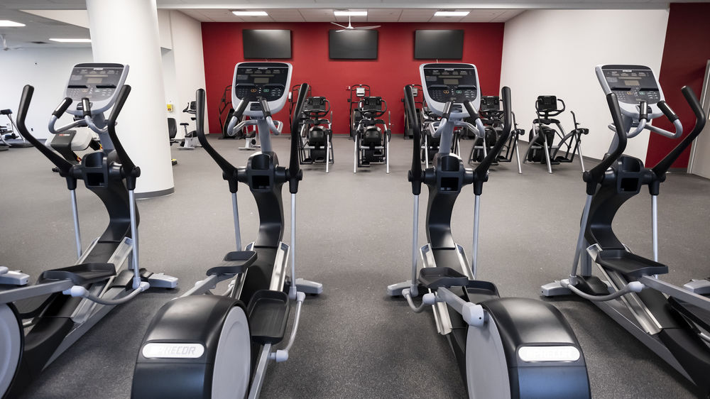 cardio equipment at the newly renovated IBC Student Recreation Center.